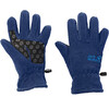 Jack Wolfskin Fleece Gloves Kids royal blue